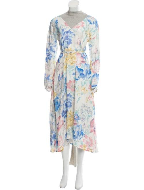 Vetements 2018 Floral Dress Blue