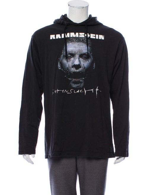 Vetements Graphic Print Hoodie black