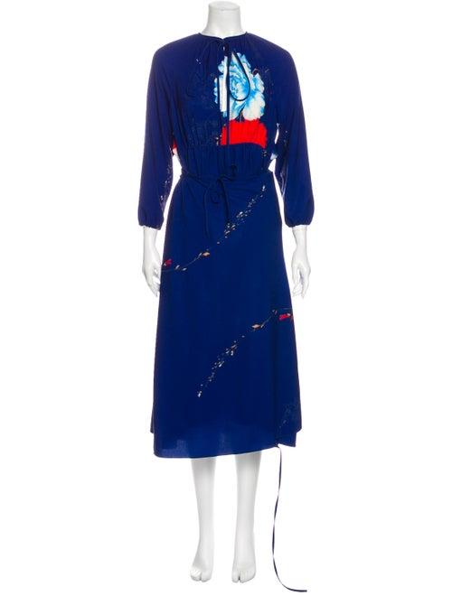 Vetements Floral Maxi Dress Blue