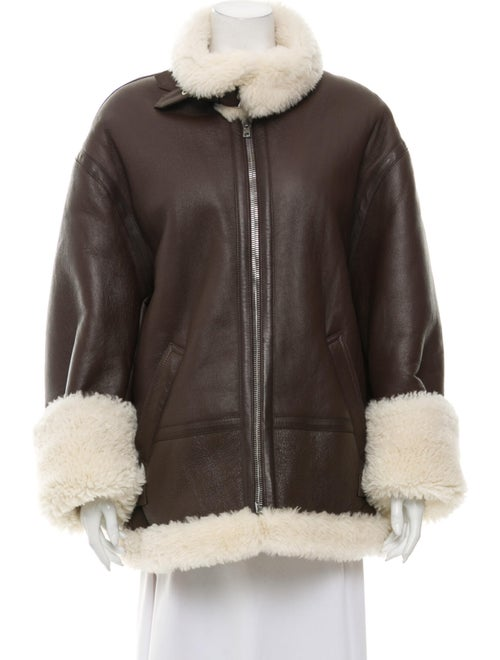 Vetements Shearling Jacket Brown