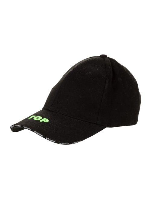 Vetements Embroidered Baseball Cap black