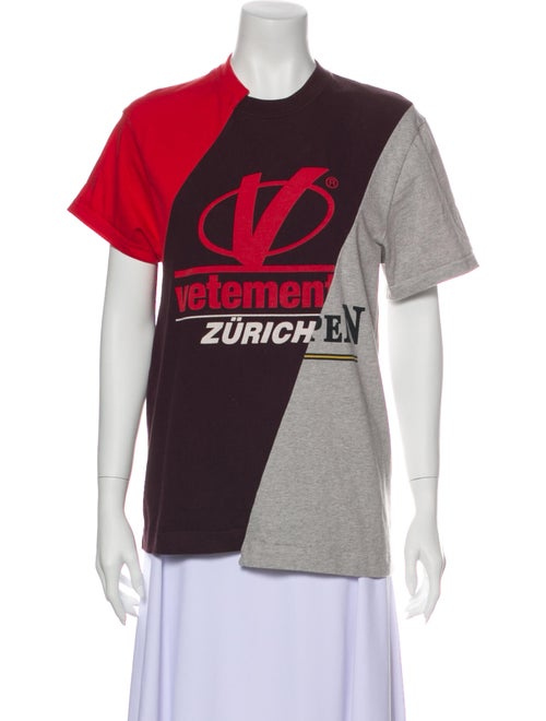 Vetements 2018 Cutup T-Shirt Red