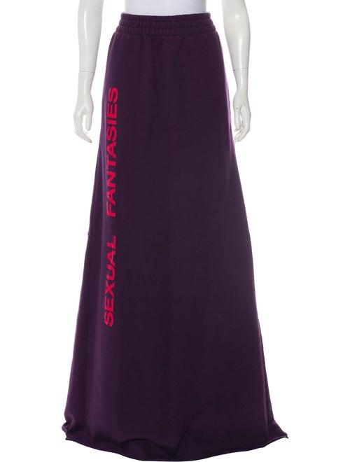 Vetements Terry Cloth Maxi Skirt Purple