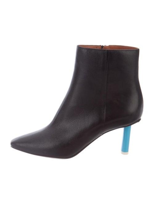 Vetements Leather Boots Black