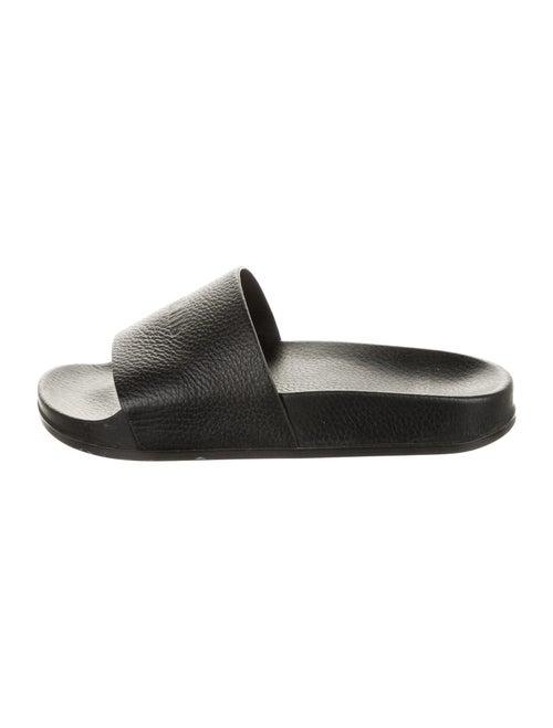 Vetements Leather Slides Black
