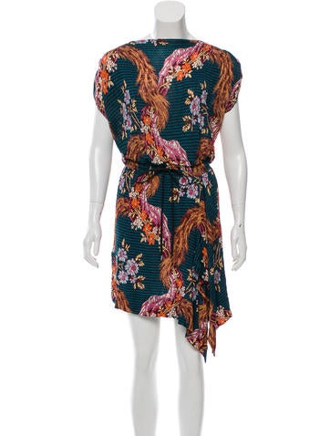 Vivienne Westwood Anglomania Floral Print Drawstring Dress
