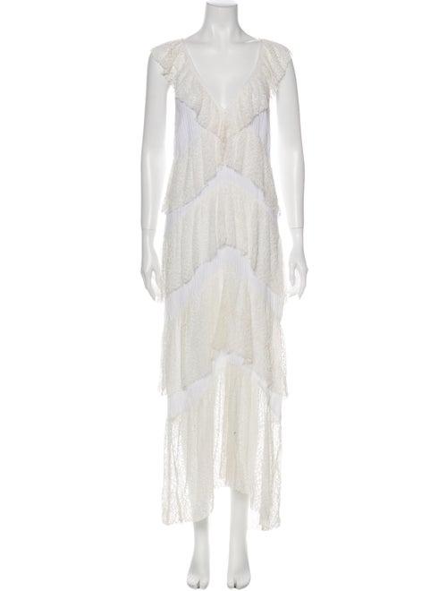 Suboo Lace Pattern Midi Length Dress