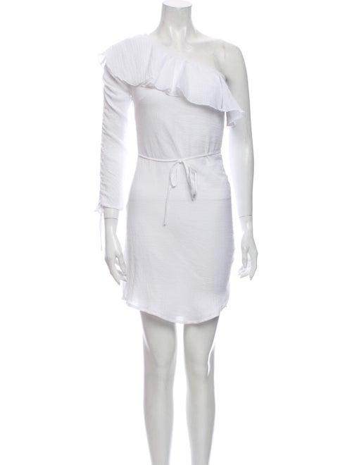 Suboo One-Shoulder Mini Dress White