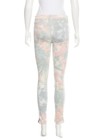 Floral Skinny Jeans w/ Tags