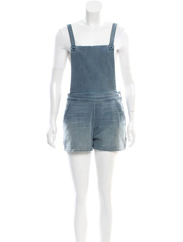 Denim Short Overalls w/ Tags