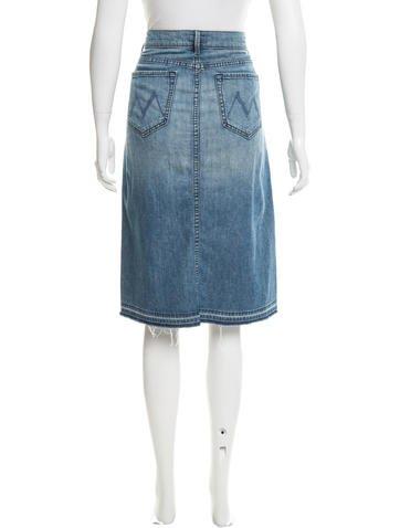 knee length denim skirt clothing w1222415 the