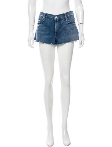 Mother Distressed Denim Shorts None