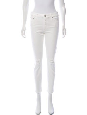 Looker Ankle Fray Mid-Rise Jeans