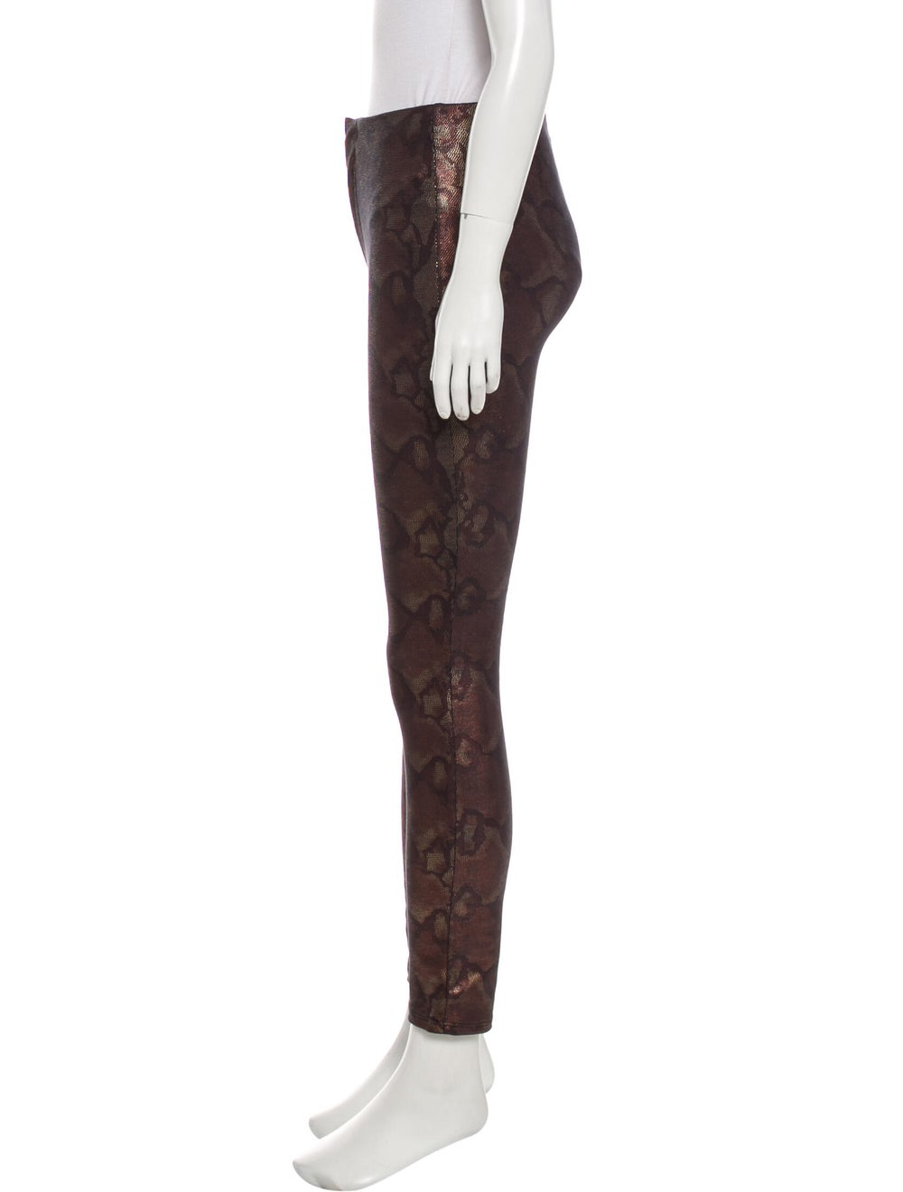 Mother Animal Print Skinny Leg Pants Brown - image 2