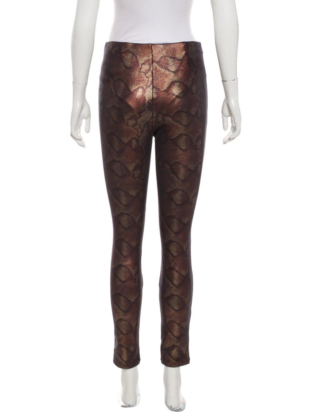 Mother Animal Print Skinny Leg Pants Brown - image 3