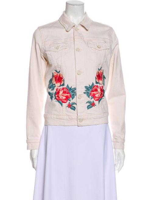 Mother Floral Print Denim Jacket Denim