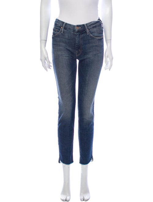 Mother Mid-Rise Skinny Leg Jeans w/ Tags Blue