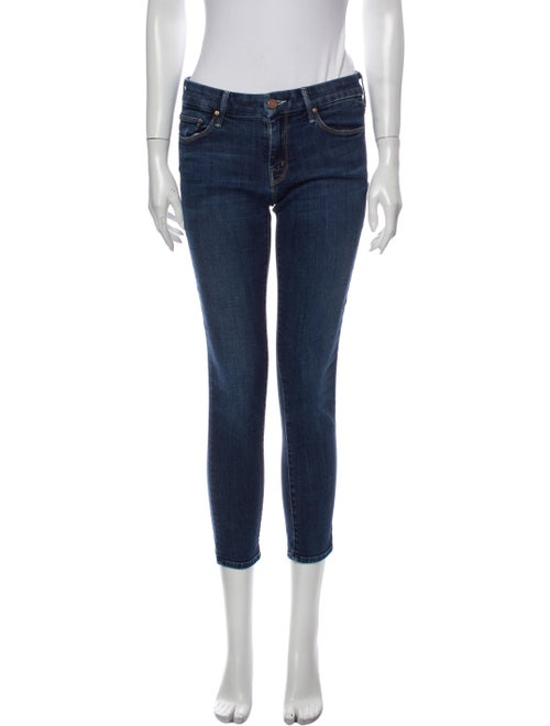 Mother Low-Rise Skinny Leg Jeans Blue