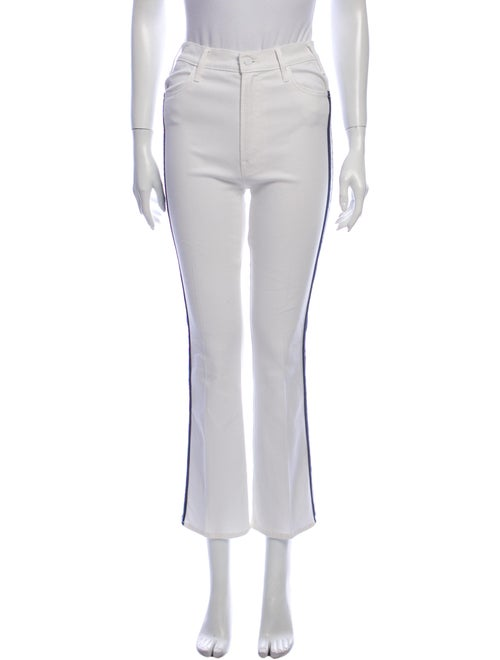 Mother High-Rise Straight Leg Jeans White