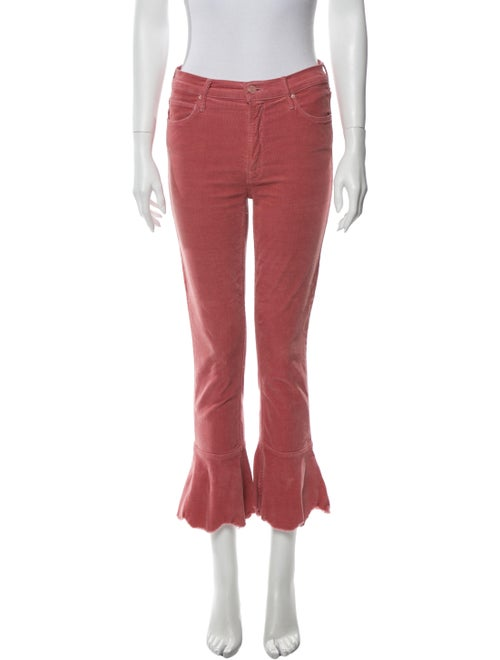 Mother Wide Leg Pants Pink