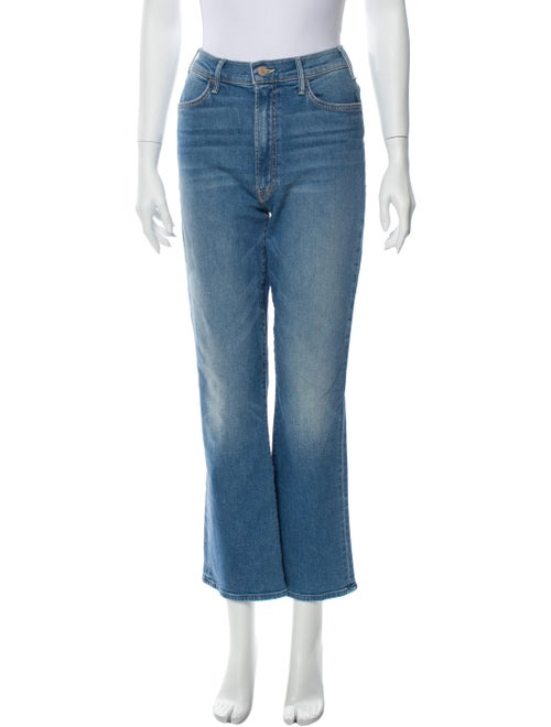 Mother High-Rise Flared Jeans Blue