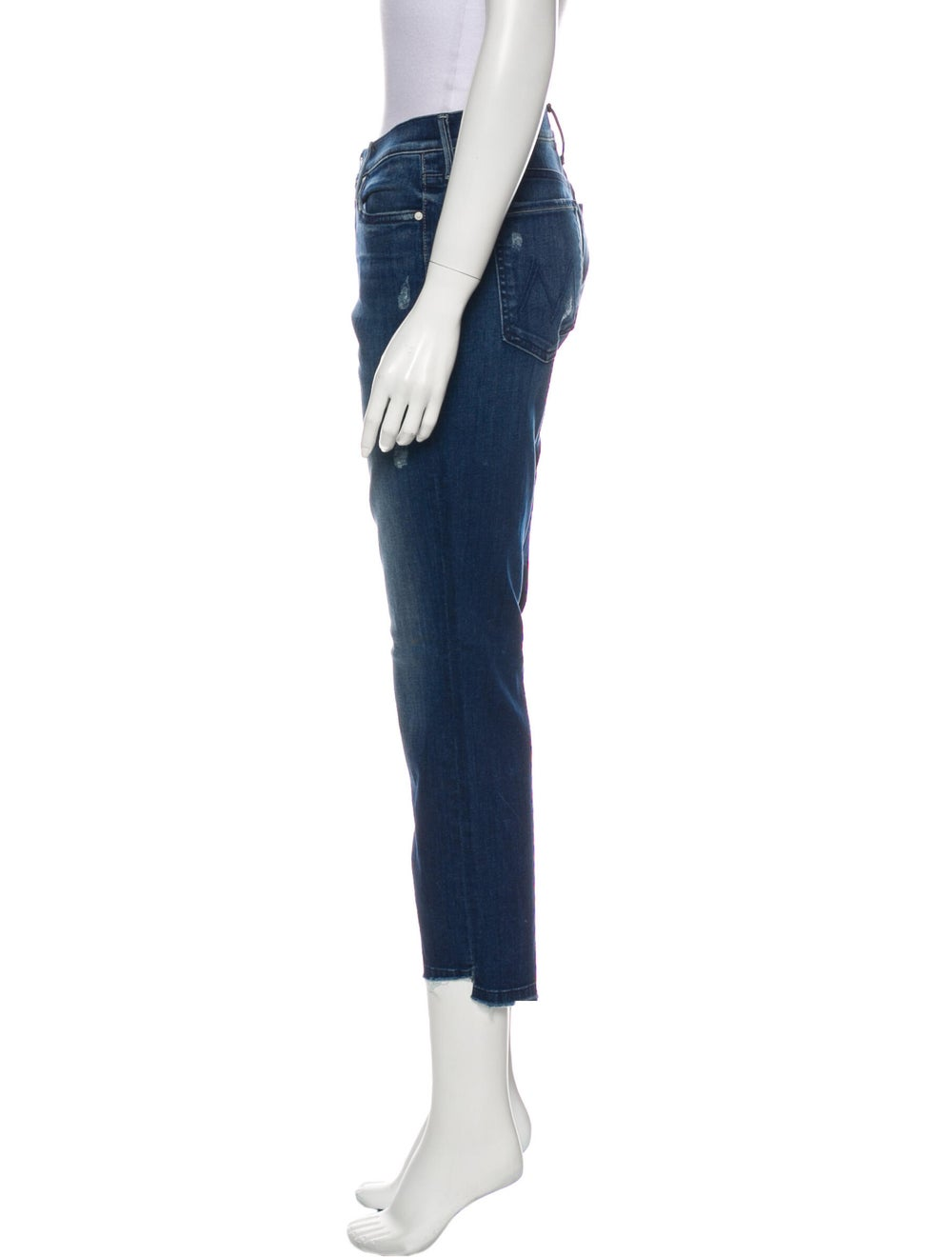 Mother Mid-Rise Straight Leg Jeans Blue - image 2