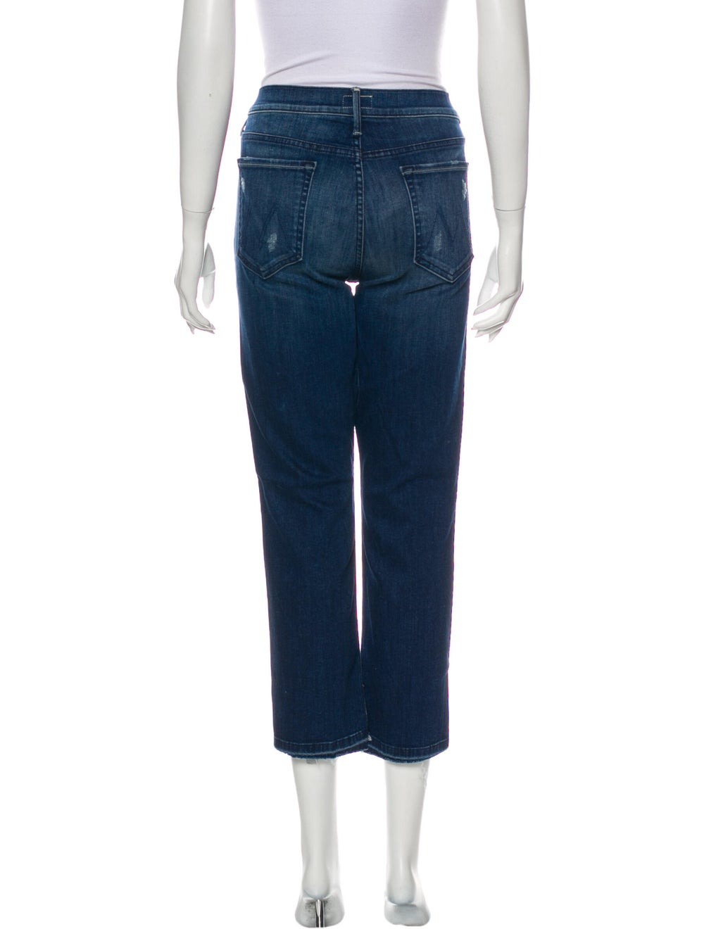 Mother Mid-Rise Straight Leg Jeans Blue - image 3