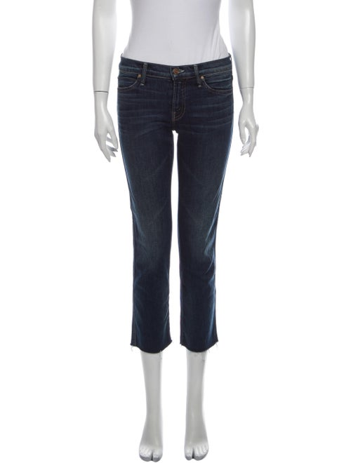 Mother Low-Rise Straight Leg Jeans Blue