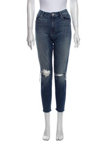Mother Mid-Rise Straight Leg Jeans