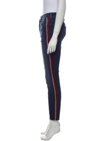 Mother Mid-Rise Skinny Leg Jeans
