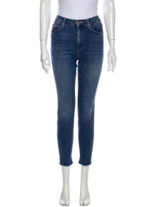Mother The Looker Ankle Fray Skinny Leg Jeans
