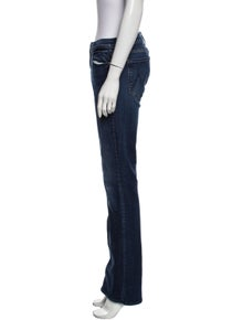 Mother Mid-Rise Wide Leg Jeans