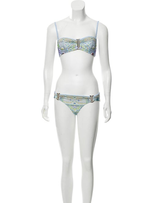 Camilla Embellished Two-Piece Swimsuit blue