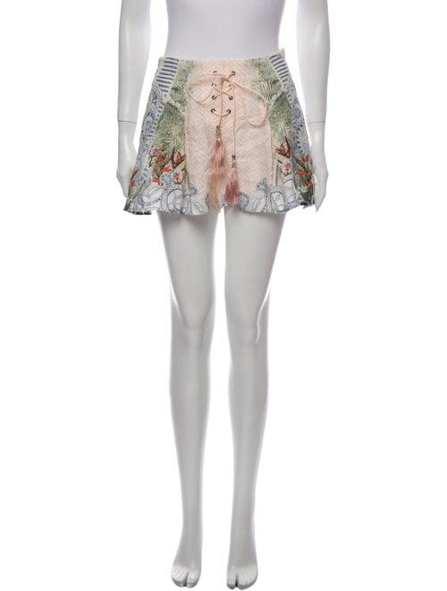 Camilla Linen Mini Shorts Pink