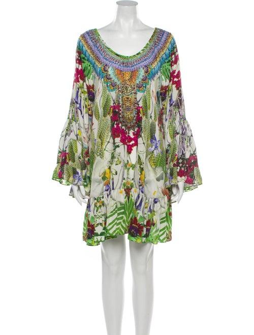 Camilla Silk Mini Dress Green