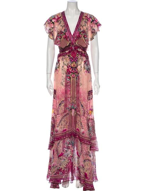 Camilla Silk Long Dress Pink - image 1