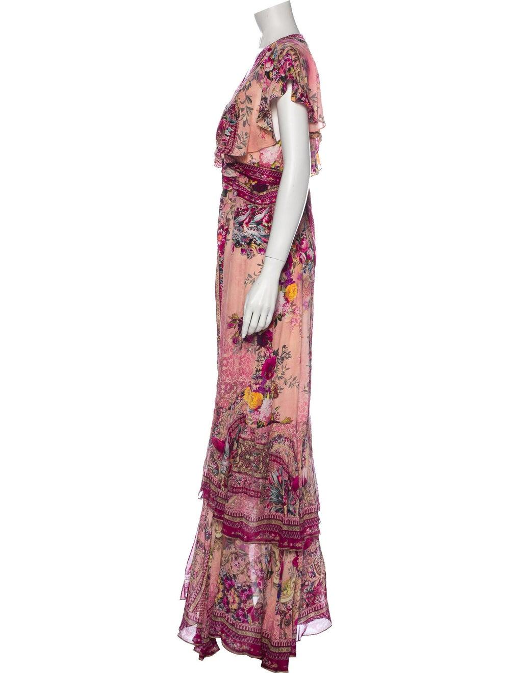 Camilla Silk Long Dress Pink - image 2