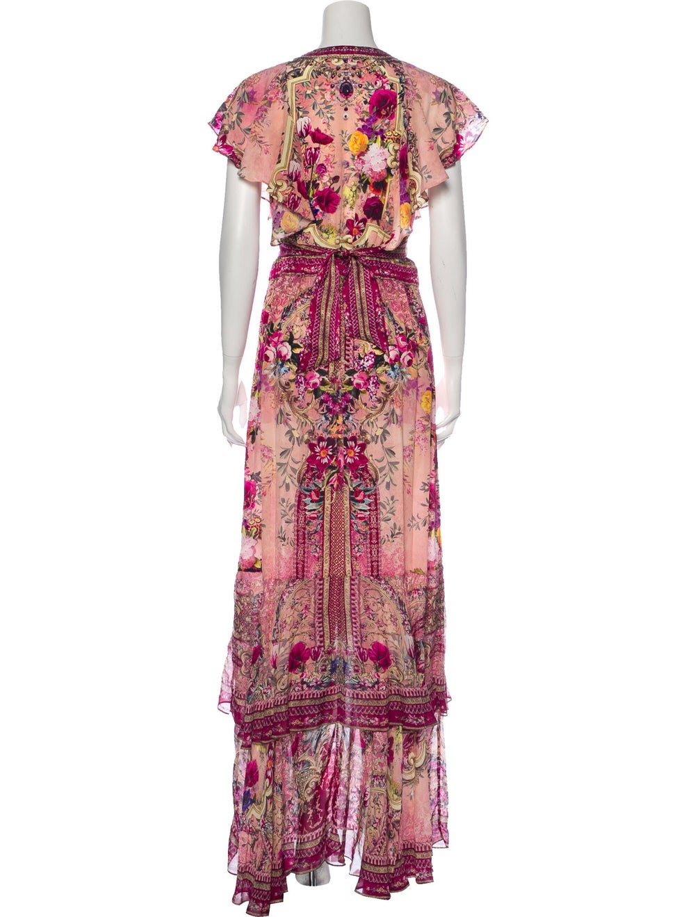 Camilla Silk Long Dress Pink - image 3