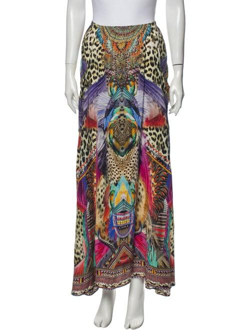 Camilla Silk Midi Length Skirt