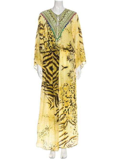 Camilla Silk Long Dress Yellow