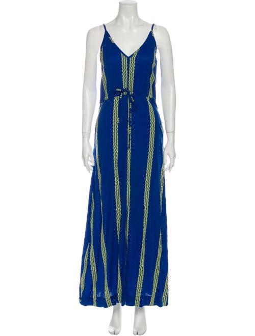 Ace & Jig Striped Long Dress Blue