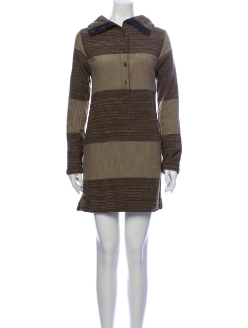 Ace & Jig Striped Mini Dress Brown