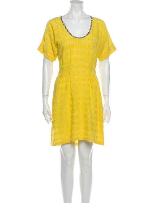 Ace & Jig Scoop Neck Mini Dress Yellow