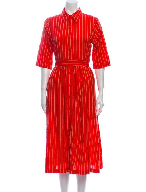 Ace & Jig Striped Midi Length Dress Orange