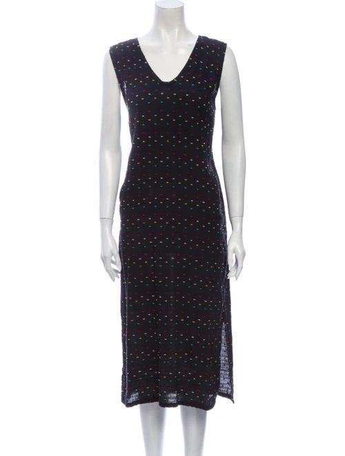 Ace & Jig Printed Midi Length Dress Black