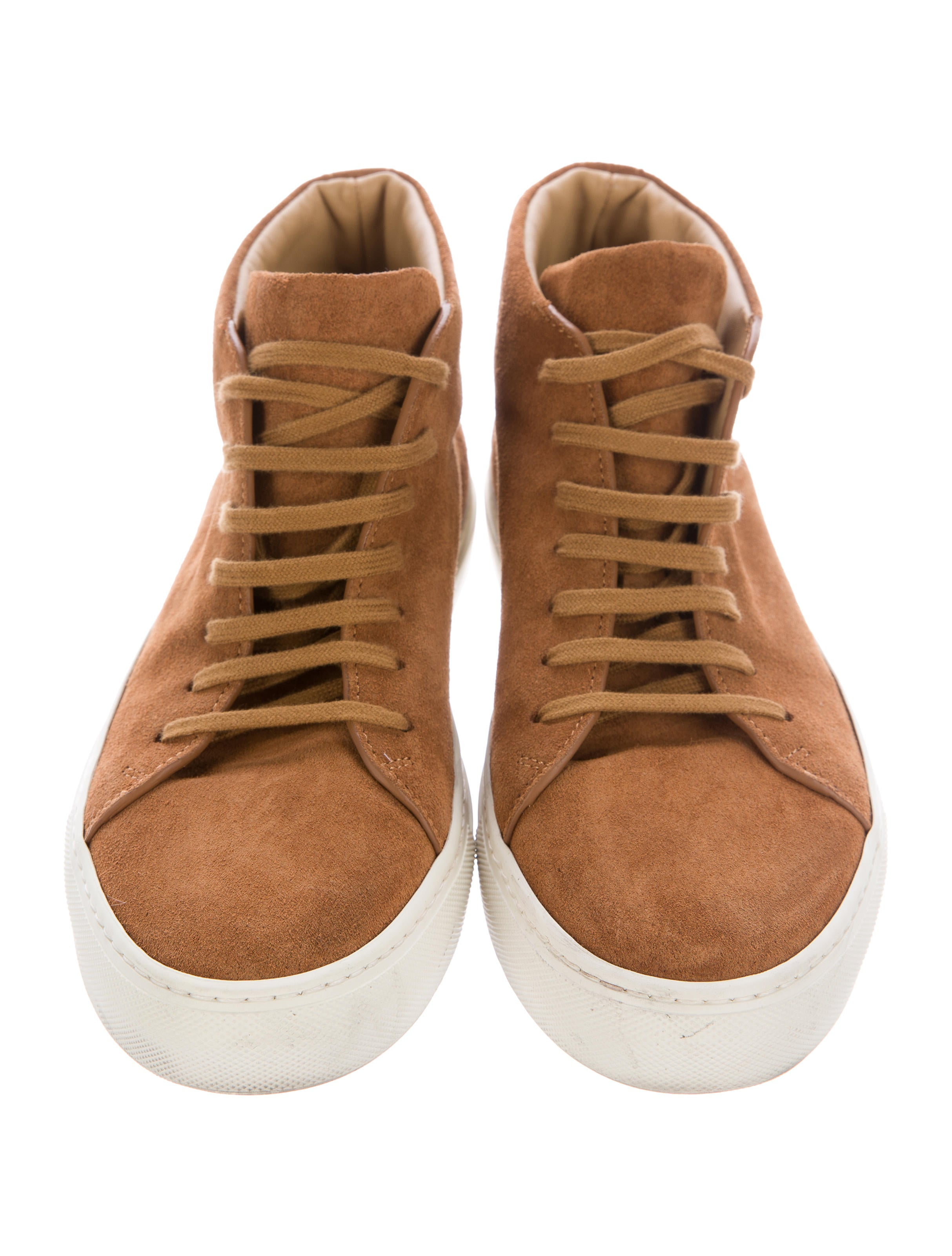 common projects achilles suede sneakers shoes w1c20479 the realreal. Black Bedroom Furniture Sets. Home Design Ideas