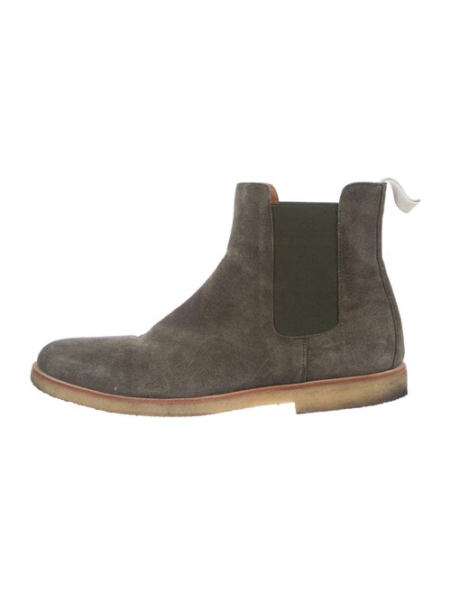 Common Projects Suede Chelsea Boots Green