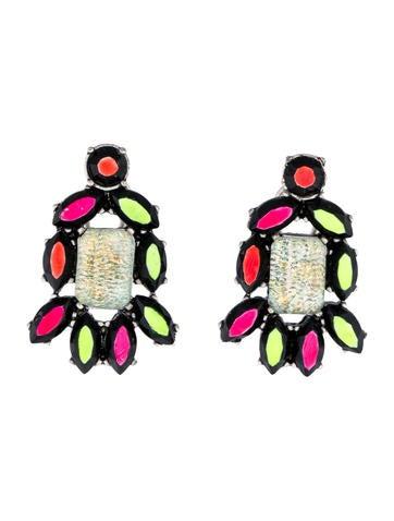Hand-Painted Neon Earrings