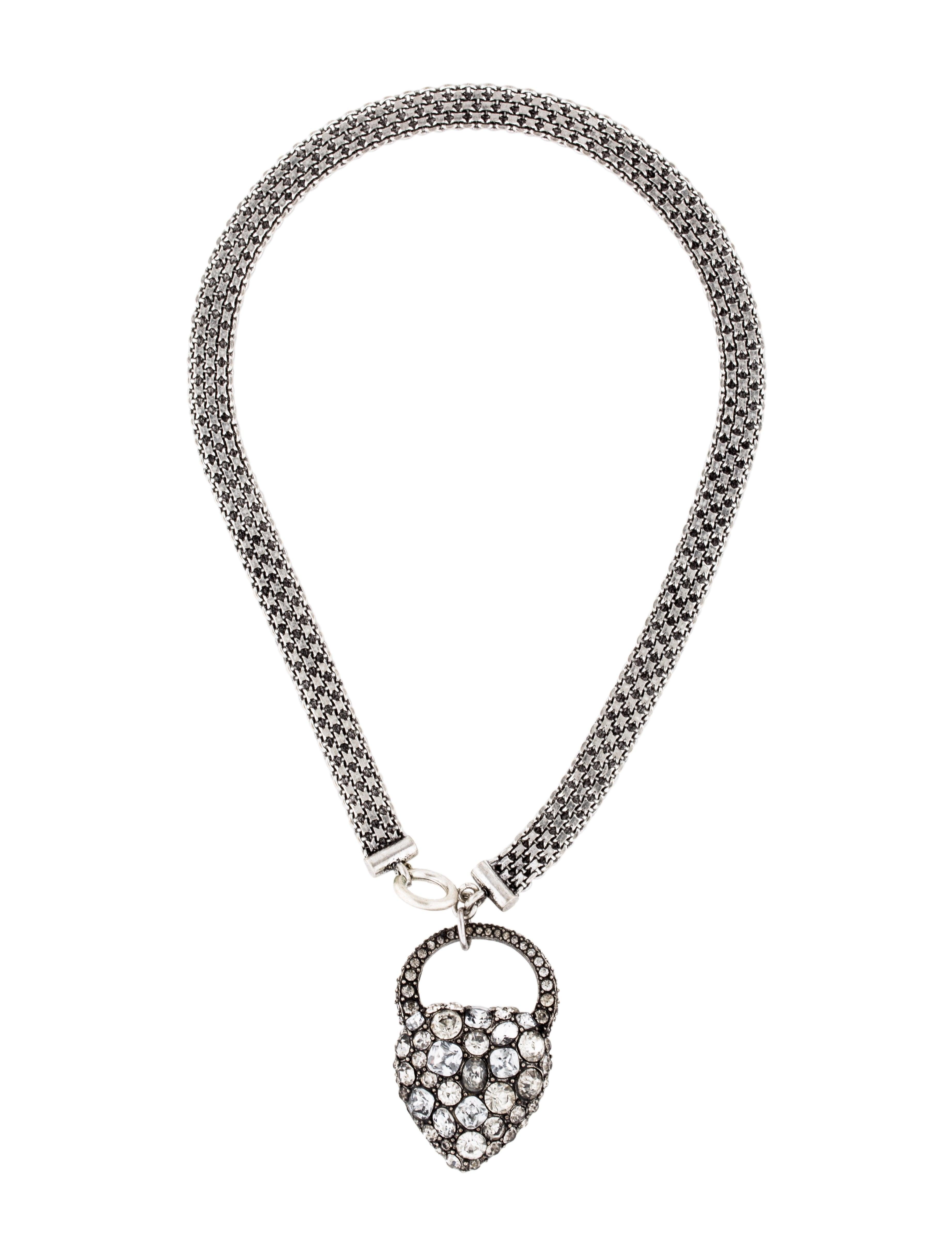 Lulu Frost Nina Crystal Heart Lock Necklace 4wLcxTq4b