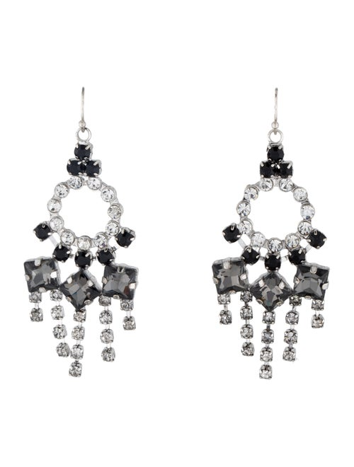 Lulu Frost Crystal Chandelier Earrings Silver - image 1